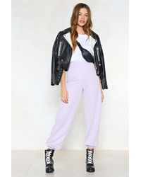 Nasty Gal - Don't Sweat It Joggers - Lyst