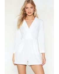 Nasty Gal - Coudn't Give A Tux Romper - Lyst