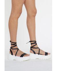 Nasty Gal - Wrap It Up Platform Sandal - Lyst