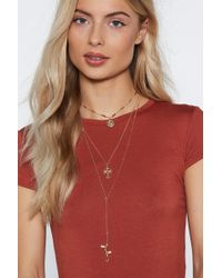 """Nasty Gal - """"oh You Charmer Layered Necklace"""" - Lyst"""