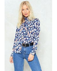 Nasty Gal - Floral Pussybow Blouse Floral Pussybow Blouse - Lyst