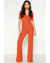 Nasty Gal - Erin Crop Top And Flare Pants Set - Lyst