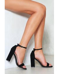 """Nasty Gal - """"over And Out Faux Suede Heel"""" - Lyst"""