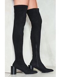 Nasty Gal - The Edge Of Glory Thigh-high Boot - Lyst