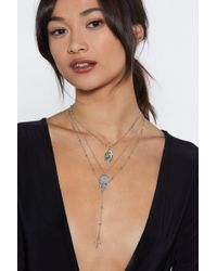 "Nasty Gal - ""come On Down Cross 2-pc Necklace Set"" - Lyst"