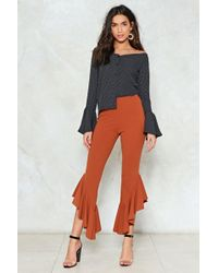 Nasty Gal   Out Of Luck Ruffle Pants   Lyst