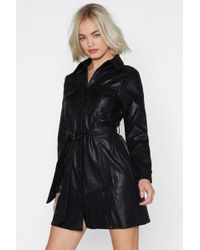 Nasty Gal - Tonight's The Night Faux Leather Dress - Lyst