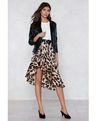 Nasty Gal - So Fierce Leopard Skirt - Lyst