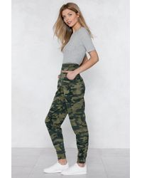Nasty Gal - March On Camo Joggers - Lyst