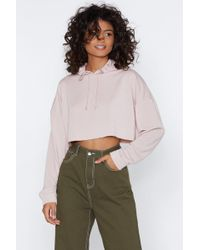Nasty Gal - All In Good Time Cropped Hoodie - Lyst