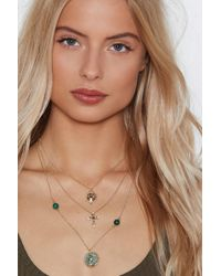 Nasty Gal - Pray Your Way Cross Necklace - Lyst
