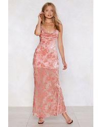 Nasty Gal - Get Grounded Devore Dress - Lyst