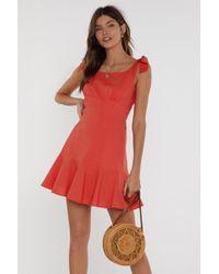 36516d6fc67 Nasty Gal - Raise Your Glass Tie Mini Dress - Lyst
