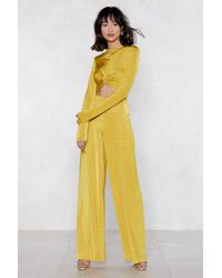 Nasty Gal - Atomic Crop Top And Wide-leg Pants - Lyst