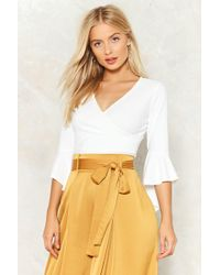 Nasty Gal - You Are Knot Alone Ruffle Crop Top - Lyst