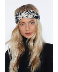 Nasty Gal - Cat's Meow Leopard Headband - Lyst