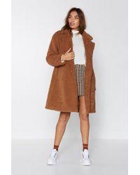Nasty Gal - I Won't Fur-get You Faux Fur Coat - Lyst