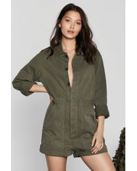 Nasty Gal - After Party Vintage March On Romper - Lyst