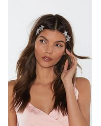 Nasty Gal - Star Of The Show 4-pc Hair Clip Set - Lyst