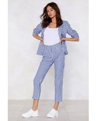 Nasty Gal - Line Of My Life Striped Pants - Lyst