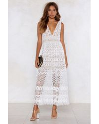 "Nasty Gal ""in Lace Of Emergency Midi Dress"" - White"