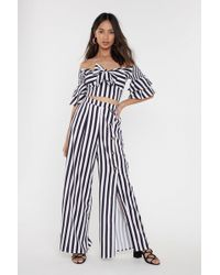 Nasty Gal - Striped Knot Front Co-ord - Lyst