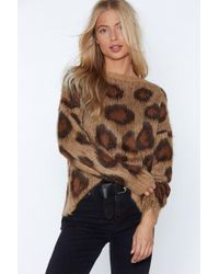 Nasty Gal - You Drive Me Wild Leopard Sweater - Lyst