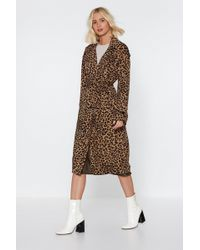 "Nasty Gal - ""leopard Print Belted Mac"" - Lyst"