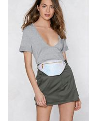 Nasty Gal - Want Shine On Glitter Fanny Pack - Lyst