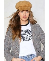 Nasty Gal - Quit While You're Ahead Newsboy Cap - Lyst