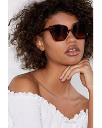 Nasty Gal - Stand Up Leopard Shades - Lyst