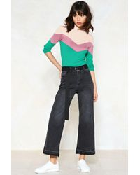 Nasty Gal - Into The Great Wide Open Cropped Jeans - Lyst