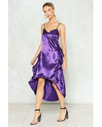 Nasty Gal - Satin Ruffle Cami Dress Satin Ruffle Cami Dress - Lyst