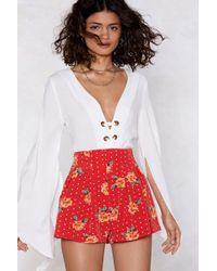Nasty Gal - Ready Steady Grow Floral Shorts - Lyst