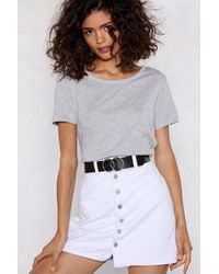 Nasty Gal - You'll Come Round Circle Belt - Lyst