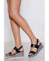 "Nasty Gal - ""need A Lift Wedge Sandal"" - Lyst"