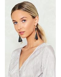 Nasty Gal | Geometric Tassell Earrings | Lyst
