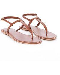 Nasty Gal - Let It Slide Leather Slide Sandal - Lyst