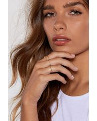 """Nasty Gal - """"feeling A Little Delicate 4-pc Ring Set"""" - Lyst"""