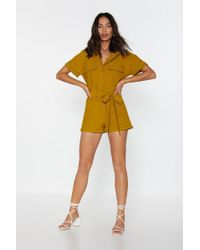 Nasty Gal - How Are Utility Romper - Lyst
