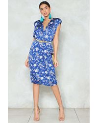 Nasty Gal - Let's Grow Wild Floral Dress - Lyst