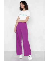 Nasty Gal - Ain't No River Wide Enough Pants - Lyst