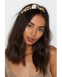 Nasty Gal - Let's Head Off Chain Headband - Lyst