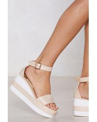 Nasty Gal - What's Your Flavor Striped Sandal - Lyst