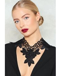 Nasty Gal - Another Day Another Collar Appliqué Necklace - Lyst