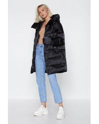 "Nasty Gal - ""a Hard Rain's Gonna Fall Padded Coat"" - Lyst"