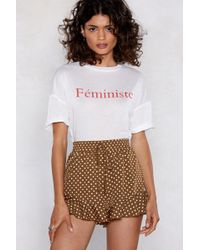 Nasty Gal - Can't Touch This Polka Dot Shorts - Lyst