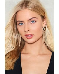 Nasty Gal - Swingin' With My Eyes Closed Chain Earrings - Lyst