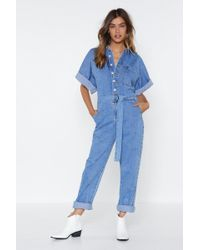 Nasty Gal - The Complete Package Denim Jumpsuit - Lyst