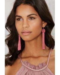 Vanessa Mooney - Astrid Tassel Earrings - Pink - Lyst
